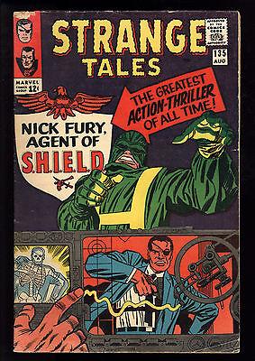 Strange Tales (1951) #135 1st Print 1st App Nick Fury Agent of SHIELD GD/VG