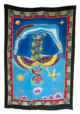 Batik Chakra Connection Caduceus Hanging Wall Cotton Handmade 166x116cm 6702 U