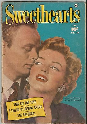 RARE!! 1953 MARILYN MONROE Cover SWEETHEARTS No. 119 Comic Magazine!! RARE Wow!!