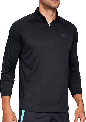 Under Armour Tech 2.0 Half Zip Long Sleeve Mens Training Top - Black