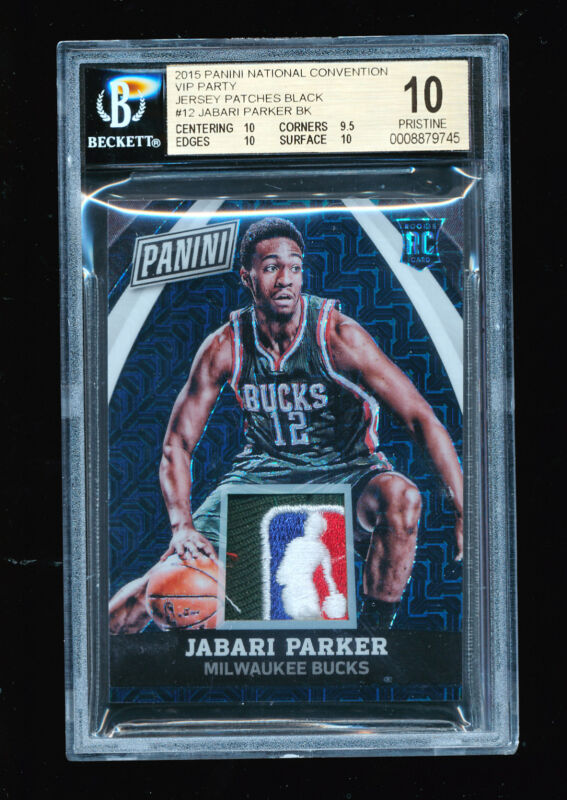 BGS 10 JABARI PARKER 2014-15 PANINI NATIONAL CONVENTION BLACK NBA LOGO PATCH 1/1