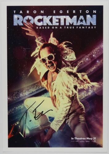 Taron Egerton Rocketman Elton John Autograph JSA 11 x 17 Signed Photo