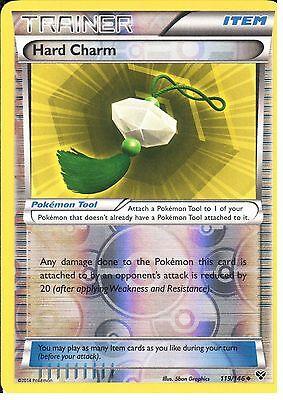 4x Hard Charm 119//146 XY Base Set Trainer NM//MINT Pokemon Cards Playset