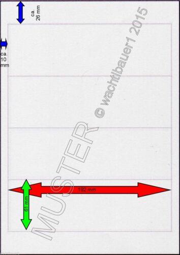 20 St. (5 Blatt) Ordneretiketten 192 x 61 mm weiß selbstklebend,Ecken abgerundet