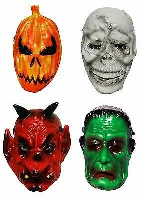 HORROR MASK Scary Rubber Latex Trick or Treat Halloween Fancy Dress Costume - Halloween Mask Paper Plate