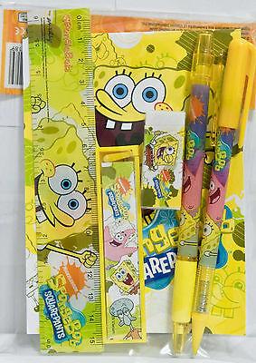 Nick Jr. SpongeBob SquarePants Stationary Set Party School Supplies