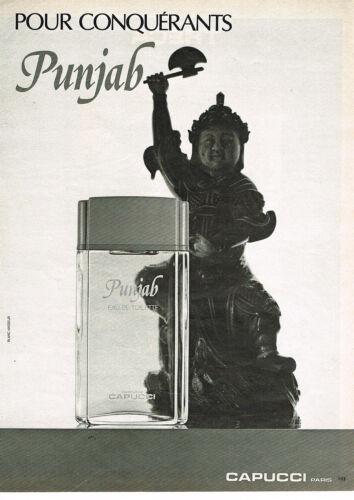 PUBLICITE-ADVERTISING-024-1980-CAPUCCI-parfum-PUNJAB-eau-de-toilette