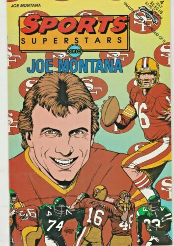 SPORTS SUPERSTARS #4  JOE MONTANA   REVOLUTIONARY COMICS  1992  NICE!!!