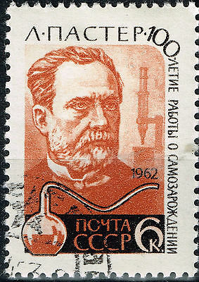 Russia Famous French vaccination microbiologist Louis Pasteur stamp 1962 for sale  Shipping to India