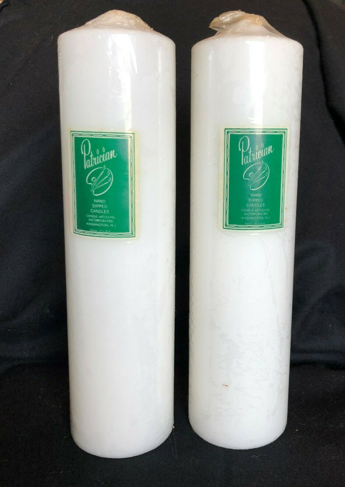 Patrician 3 x 12 Inch White Hand Dipped Candles , No Drip,