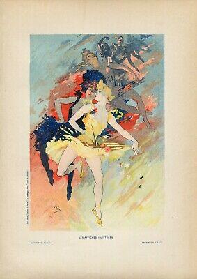 Jules Cheret LA DANSE Vintage French Lithograph, Affiches Illustrees, Paris 1896