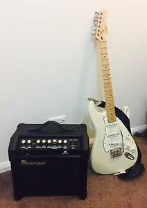 Squier by Fender Pearl White and Ibanez Amp Terrigal Gosford Area Preview
