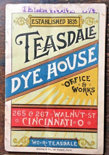 Cincinnati OH Teasdale Dye House General Directions Office & Works advertising