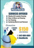 NeatNerds- 3 hours proffesional cleaning only $150