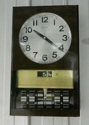 Seiko 30 Day Pendulum Wall Clock Day Date Vintage Japanese Superb Collectable