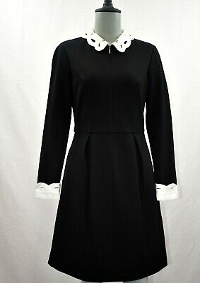 Ted Baker Shealah Embroidered Collar Dress, Black Size 1 Ted- 4 US