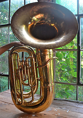 BIG BEAUTIFUL CONN 20J SHORT ACTION RECORDING BASS TUBA WITH CASE! $1250