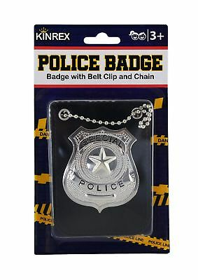KINREX Police Badge Holder Toy Costume for Kids - Halloween Pretend Play Dres... (Police Badge Toy)
