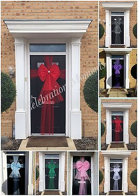 Luxury Door Bow Christmas Xmas Baby Shower Wedding Shop Front Half or full Wrap (Baby Shower Shop)