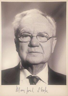 Autogramm Manfred Stolpe Ministerpräsident von Brandenburg a.D. handsigniert #