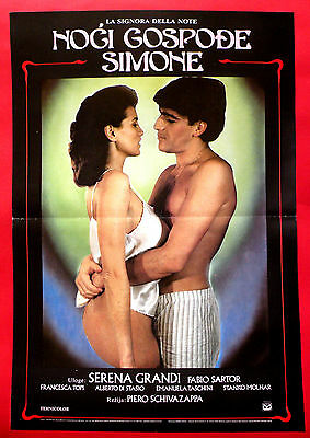 LADY OF THE NIGHT 1986 SEXY SERENA GRANDI FABIO SARTOR RARE EXYU MOVIE POSTER