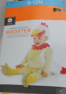 12 Month Boy Halloween Costumes (Halloween Infant Rooster Costume Size 6-12 Months 25-29 Height up to 21.5)