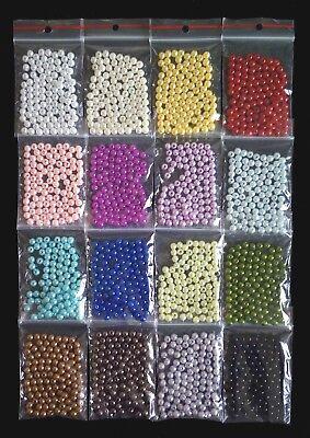 100 Wachsperlen 6 mm verschiedene Farben zur Auwahl (Dekoperlen)