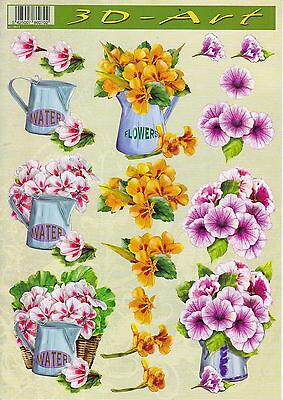3D Etappen-Bogen-Blumen in Vase - 3DArt 15