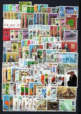 Belgisch Congo Belge - Rep. Zaïre Clearout Collection 137 stamps Used (3)