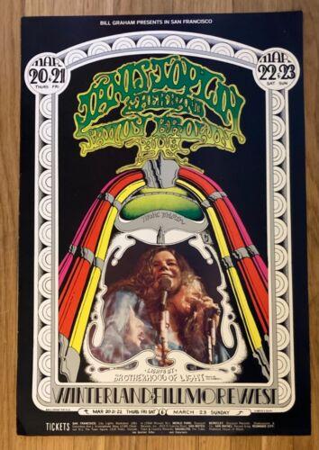 Vintage 1969 Janis Joplin Fillmore West Billy Graham Concert Poster No. 165