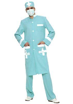 klasse 3tg Herren Kostüm ARZT / DOKTOR Arztkostüm Chirurg Kittel Arztkittel - Grün Arzt Kostüm