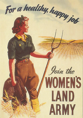 ROBERT  OPIE  ADVERTISING  POSTCARD  -  THE  WOMEN'S  LAND  ARMY