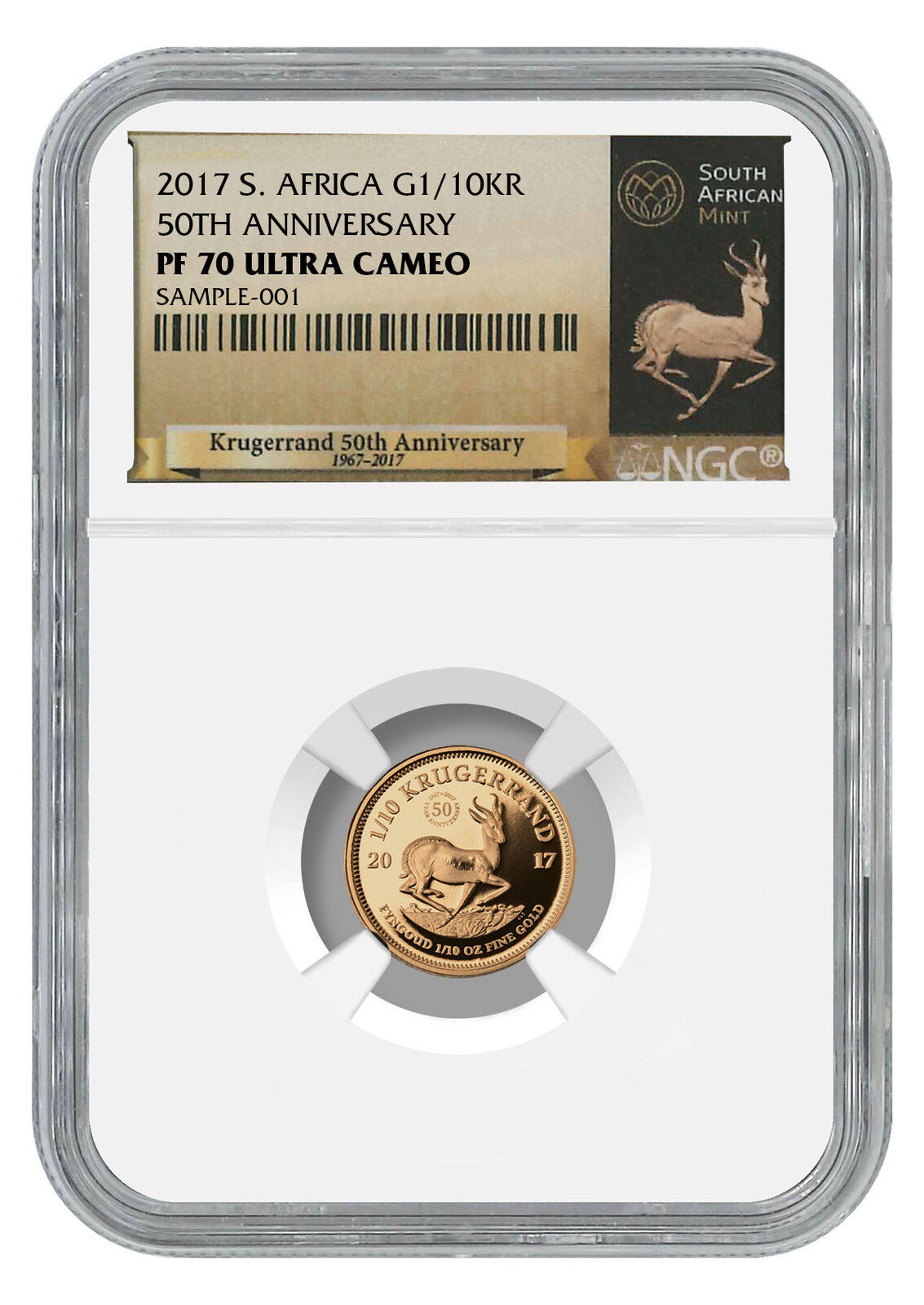 10 Gold Smoky Eye Tutorials For Fall: 2017 South Africa 1/10 Oz Gold Krugerrand NGC PF70 UC