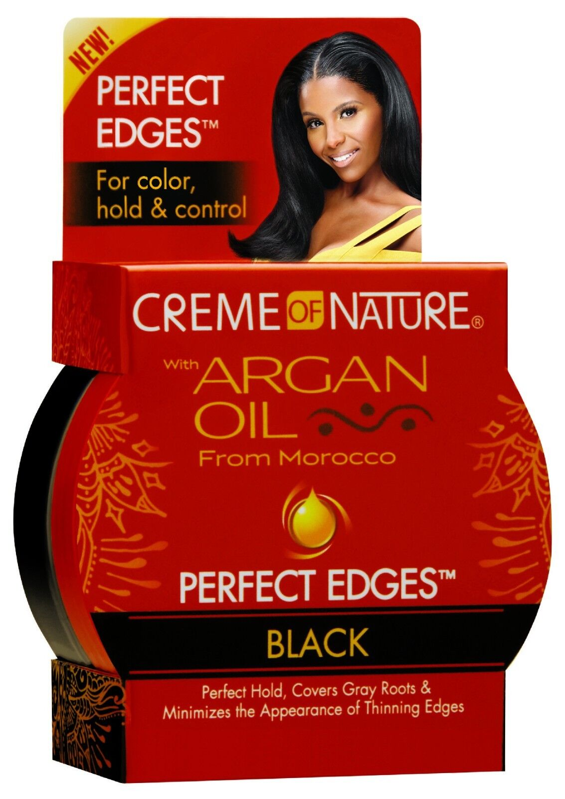 Creme of Nature Perfect Edges Black Cover Gray Roots Hair