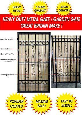 STEEL SECURITY DOOR, GATE. METAL GARDEN GATE / WROUGHT IRON GATE(POWDER COATED)