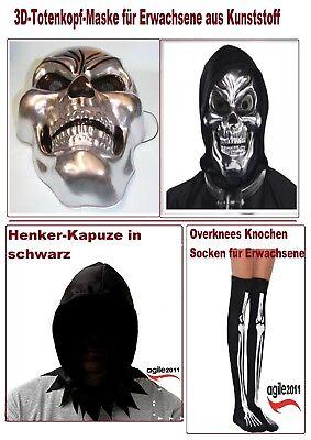 TOTENKOPF MASKE # Halloween Skelett Sensenmann Grusel Horror - Skelett Kopf Kostüm