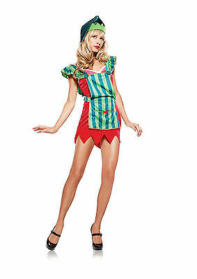 CHRISMAS WORKSHOP ELF SANTAS HELPER GENUINE LEG AVENUE COSTUME XMAS 8 10 12](Chrismas Costumes)