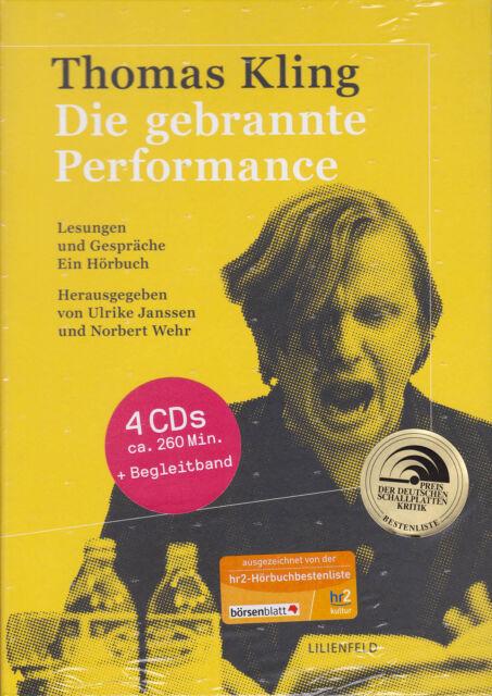THOMAS KLING: Die gebrannte Performance. Hörbuch, 4 CDs + Begleitband, NEU OVP