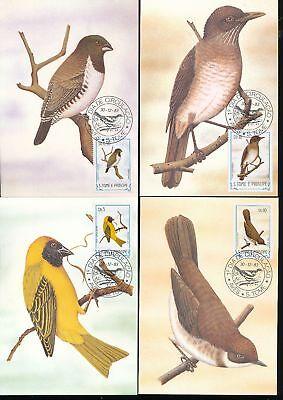 S.Tome E Principe St Thomas 1983 Birds Wildlife Maxi Cards (22 Items) D754a