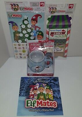 Elf On The Shelf Lot: Elf Mates Story Book Advent Calendar Nestle Mug Gift Set +