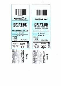 2 Tickets - Guns N Roses Adelaide Feb 18th Ultimate Fan Package Tennyson Charles Sturt Area Preview