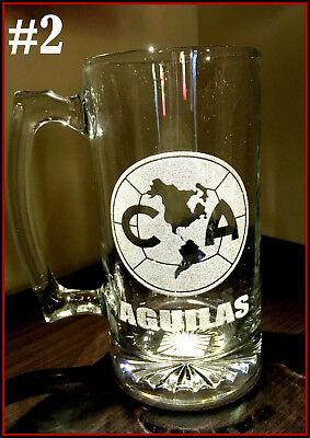 Laser Engraved Beer - CLUB AMERICA sport Beer Mug 26.5 oz Personalized Laser Engraved TARRO AGUILAS