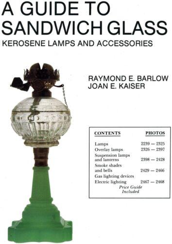Antique Sandwich Glass Kerosene Lamps Shades Globes / Illustrated Book + Values