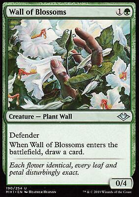 2x Wall of Blossoms | NM/M | Modern Horizons | Magic MTG