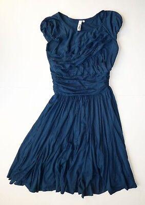 Anthropologie EUC Vagabond Dress by Sine - Blue Jersey Swing - SZ S