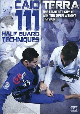 111 HALF GUARD TECHNIQUES CAIO TERRA 3 DVD Training Jiu Jitsu BJJ MMA B409