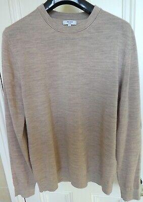 Reiss Wessex Oatmeal Wool Jumper (John Smedley style) Size Medium