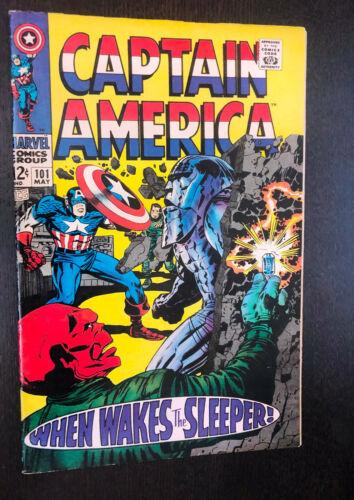 CAPTAIN AMERICA #101 (Marvel 1968) -- Jack Kirby -- VF-