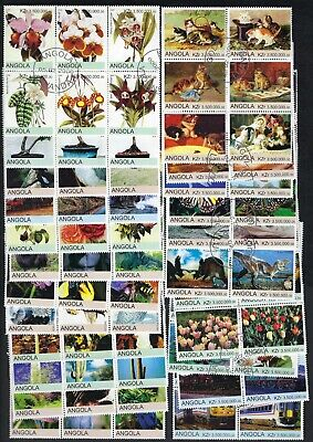 132 Different Angola Pictoral Stamps - Many Topical
