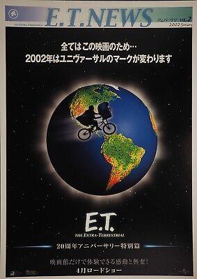E.T. the Extra-Terrestrial 1982 NEWS Japanese Mini Poster Chirashi Japan B5